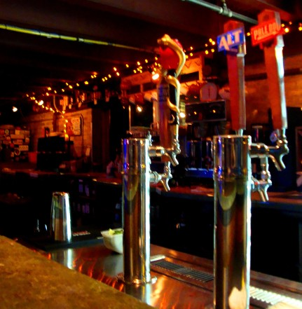 One of two bars at Ruta Maya